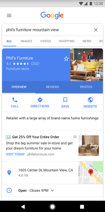Red de búsqueda de Google I